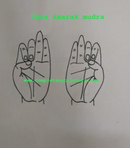 Mudra for greasy hair