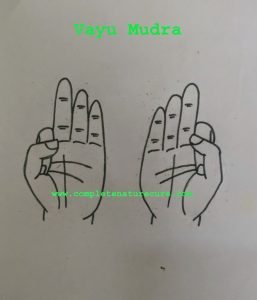 Mudra for a migraine headache