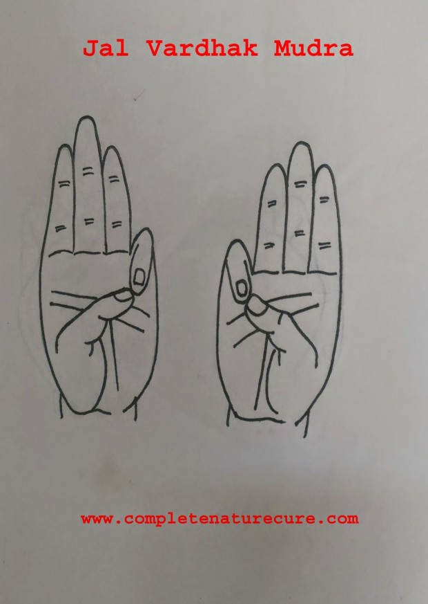 Varun mudra for Harmon deficiency